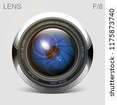 set camera lens object glass... | Shutterstock .eps vector #1175873740