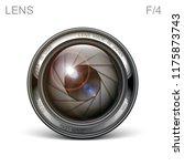 set camera lens object glass... | Shutterstock .eps vector #1175873743