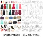 women  fashion clothes  set ... | Shutterstock .eps vector #1175876953