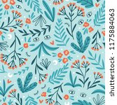moon herbs. vector floral... | Shutterstock .eps vector #1175884063