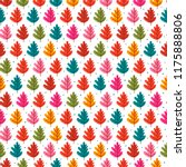 seamless pattern with autumn... | Shutterstock .eps vector #1175888806