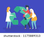 characters of people with... | Shutterstock .eps vector #1175889313
