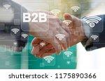 business button b2b on... | Shutterstock . vector #1175890366