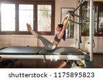 peak pilates   young woman... | Shutterstock . vector #1175895823