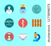 9 medical icons set | Shutterstock .eps vector #1175898073