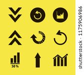 diagram vector icons set. with... | Shutterstock .eps vector #1175906986