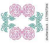 beautiful frame of roses.... | Shutterstock .eps vector #1175907346