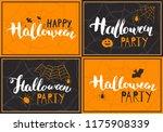 halloween greeting cards set.... | Shutterstock .eps vector #1175908339