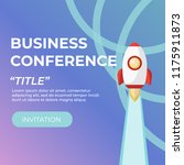 business conference invitation. ... | Shutterstock .eps vector #1175911873