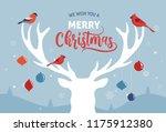 merry christmas banner  xmas... | Shutterstock .eps vector #1175912380
