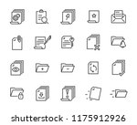 set of document icons  such as... | Shutterstock .eps vector #1175912926