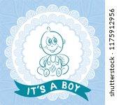 baby boy. vector illustration | Shutterstock .eps vector #1175912956