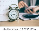 due date calendar and alarm... | Shutterstock . vector #1175913286