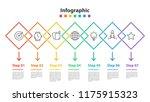 infographic element design 7... | Shutterstock .eps vector #1175915323