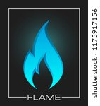 flammable symbol. icon with... | Shutterstock .eps vector #1175917156