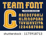 a font in the style of... | Shutterstock .eps vector #1175918713
