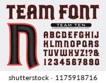 a font in the style of... | Shutterstock .eps vector #1175918716