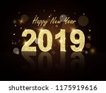 new year 2019 gold label with... | Shutterstock .eps vector #1175919616
