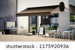 caf  facade 3d rendering | Shutterstock . vector #1175920936