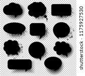 retro black speech bubble with...   Shutterstock . vector #1175927530