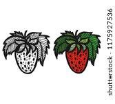 strawberry. vector illustration | Shutterstock .eps vector #1175927536