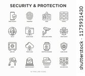 security and protection thin... | Shutterstock .eps vector #1175931430