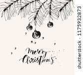 hand drawn ink christmas and... | Shutterstock .eps vector #1175932873