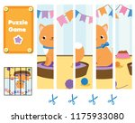 puzzle for toddlers. match...   Shutterstock .eps vector #1175933080