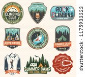 set of rock climbing club and... | Shutterstock .eps vector #1175933323