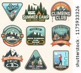 set of rock climbing club and... | Shutterstock .eps vector #1175933326