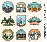 set of rock climbing club and... | Shutterstock .eps vector #1175933329