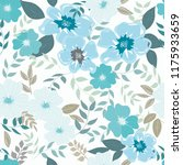abstract flower seamless... | Shutterstock .eps vector #1175933659