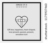 gift box  happiness  line icon | Shutterstock .eps vector #1175937460