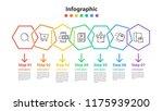 infographic element design 7... | Shutterstock .eps vector #1175939200