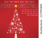 merry xmas greeting card | Shutterstock .eps vector #117594304