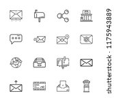collection of 16 send outline... | Shutterstock .eps vector #1175943889