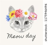 Meow Day With Cat Flower Crown...