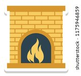 room stove  heating stove... | Shutterstock .eps vector #1175946859