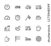 collection of 16 fast outline... | Shutterstock .eps vector #1175948599
