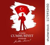 29 ekim cumhuriyet bayramimiz... | Shutterstock .eps vector #1175953450