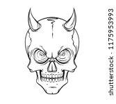 lined tattoo illustration of... | Shutterstock .eps vector #1175953993