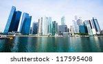 wide panorama of skyline... | Shutterstock . vector #117595408