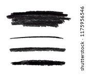 vector charcoal strokes set ...   Shutterstock .eps vector #1175956546