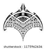 polynesian style ornaments... | Shutterstock .eps vector #1175962636