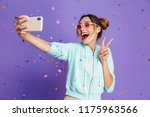 portrait of a happy young girl... | Shutterstock . vector #1175963566