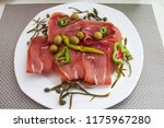 bruschetta with prosciutt | Shutterstock . vector #1175967280