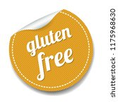 gluten free label lsolated... | Shutterstock .eps vector #1175968630
