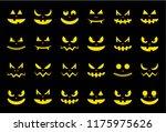 spooky halloween ghost face...   Shutterstock .eps vector #1175975626