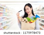 beautiful asian woman in... | Shutterstock . vector #1175978473