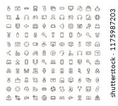online game icon set.... | Shutterstock .eps vector #1175987203